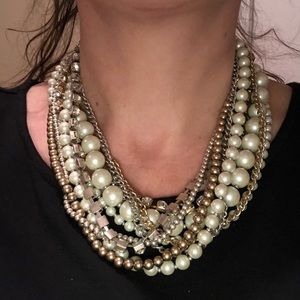 White House Black Market multi pearl necklace